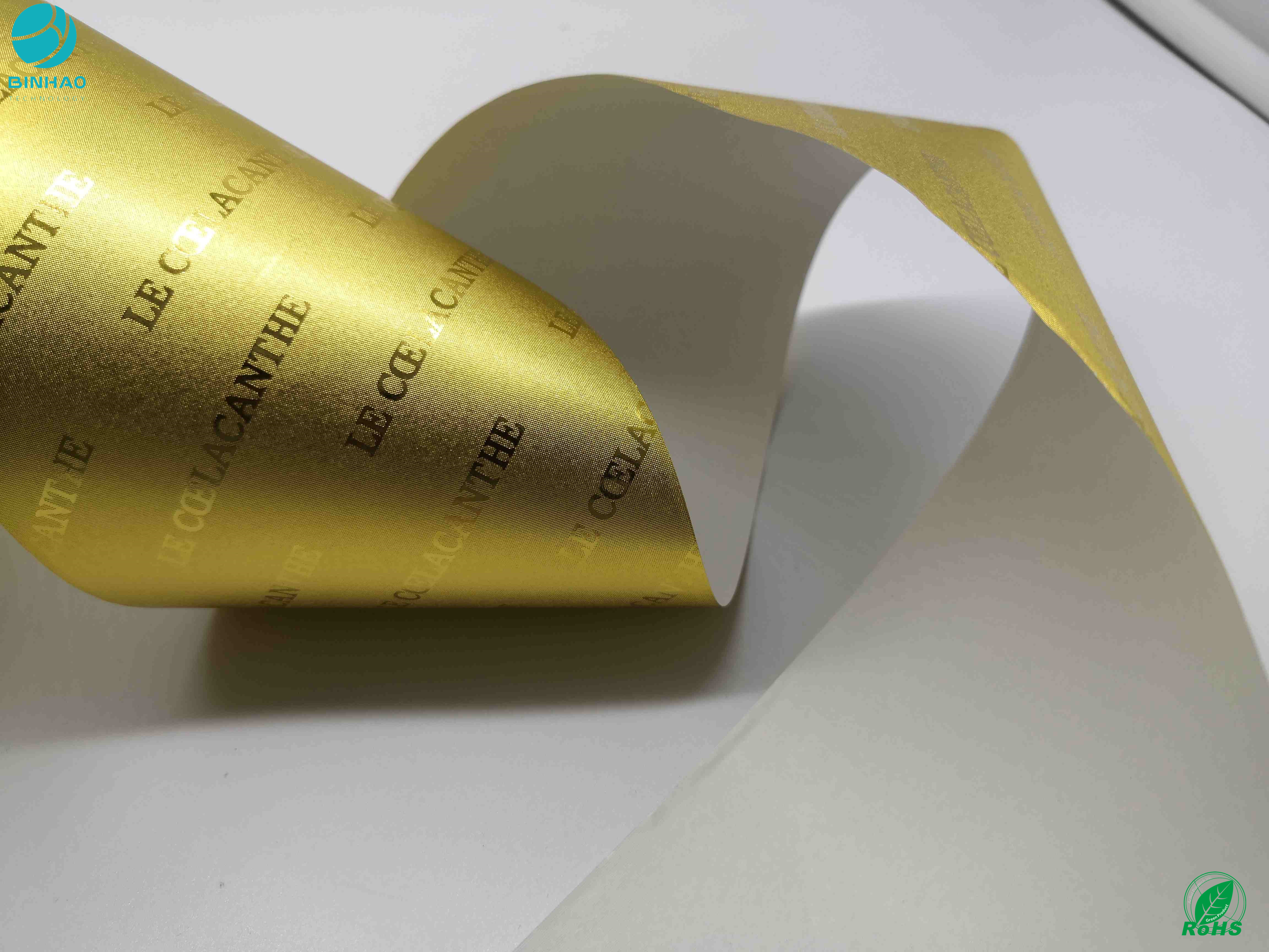 One Side Bright Aluminum Foil Paper Wrapping Food Cigarette Foil Side Slip Lacquered