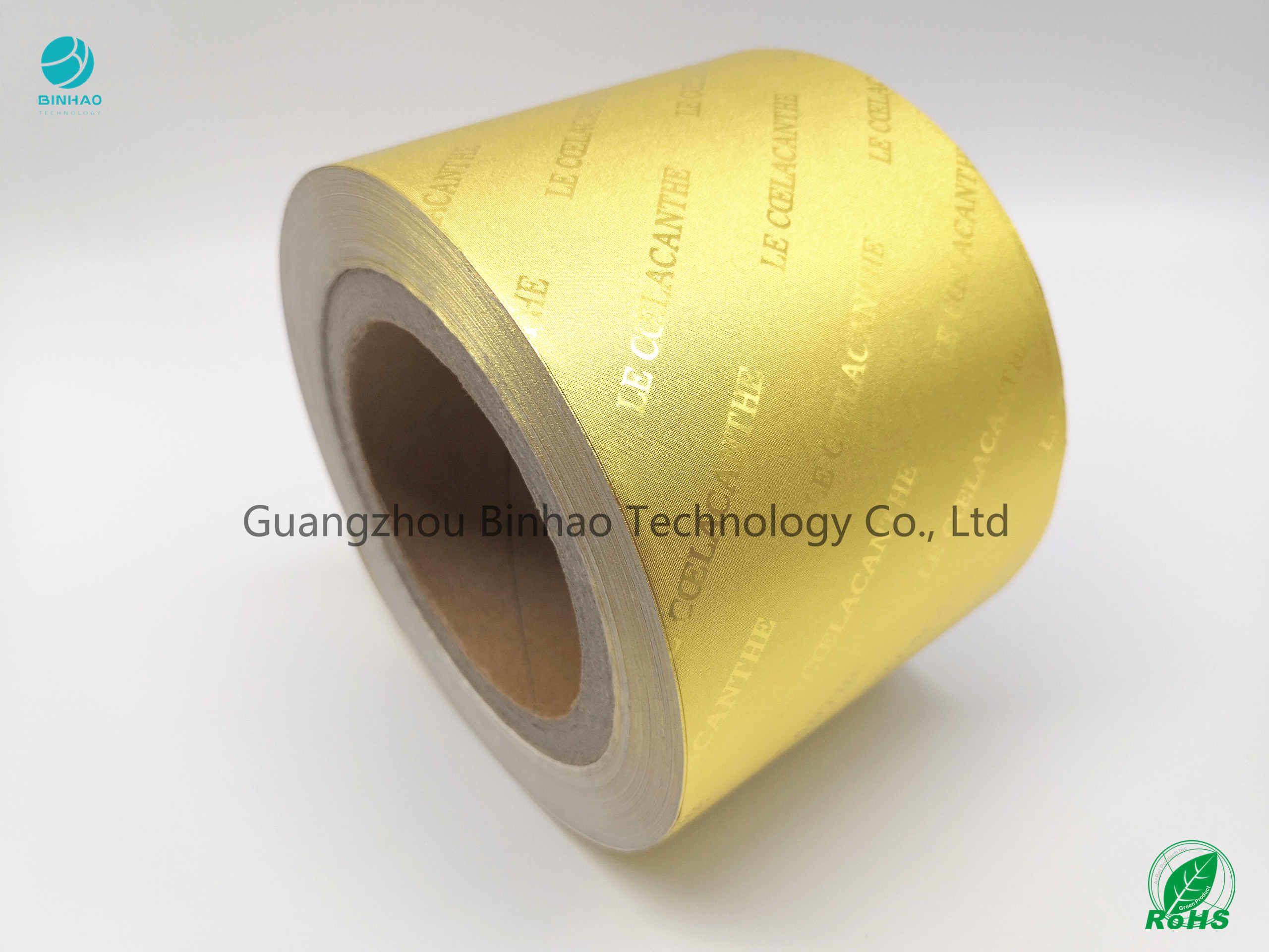 8011 Alloy Food Chocolate Cigarette Golden Frosting Surface Aluminum Laminated Foil Paper